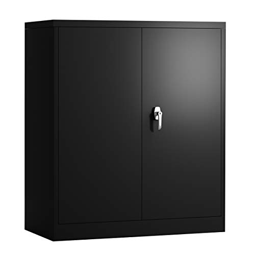 """GangMei Steel Filing Cabinet, Storage Cabinet with 2 Adjustable Shelves and Lockable Door, Big Space for Industrial Storage,Machine Cabinet. Assembly Required (H41.6""""W36""""D18"""")"""