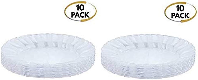 Lot de 10 plateaux de service ovales en plastique rigide - jetables et réutilisables - Parfait pour les fêtes, les fêtes, les buffets, la restauration et autres, Set of 2