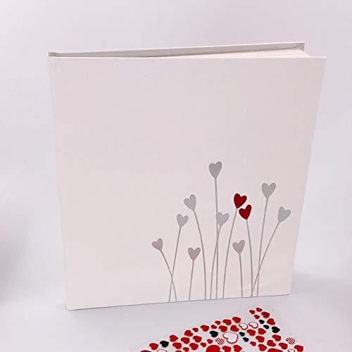 KATINGA Gästebuch Bleeding Heart (Gästebuch mit Sticker)