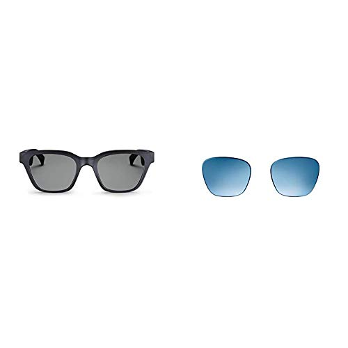 Bose Frames - Audio Sunglasses with Open Ear Headphones, Black, with Bluetooth Connectivity. Limited Time Only Receive a Free Gradient Blue Replacement Lens