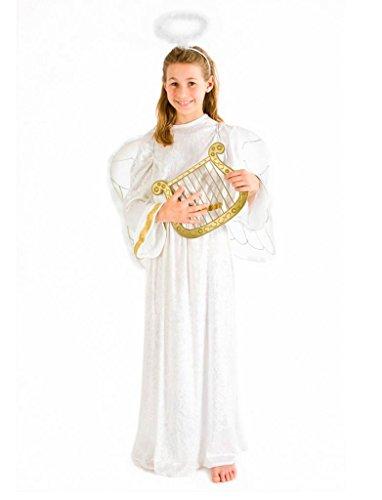 Angelo bambini costume Ta. 140 vestito di velluto abito bianco Natale Carnevale