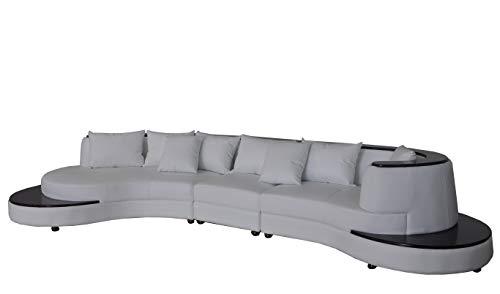 JVmoebel Lujoso sofá esquinero de piel acolchado XXL grande en forma de U