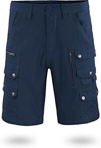 normani Arbeitsshort für Herren mit diversen Taschen Cargo-Shorts und extra Zollstocktasche aus 100% Bio-Baumwolle Farbe Navy Größe L