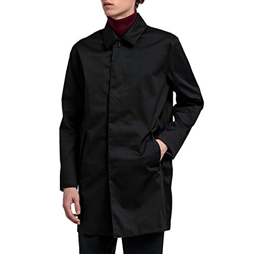 GANT Tech Prep Car Coat Jacket Medium Black