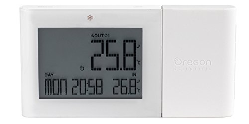 Oregon Scientific Wetterstation RMR262 white Alizé Thermometer, weiß