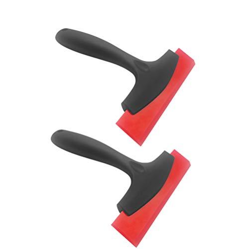 BESPORTBLE 2er Pack Schneeschaufeln Gummi Klinge Bildschirm saubere Werkzeuge Eisreiniger Eiscrusher für Auto Auto Glas Windschutzscheibe Fenster rot