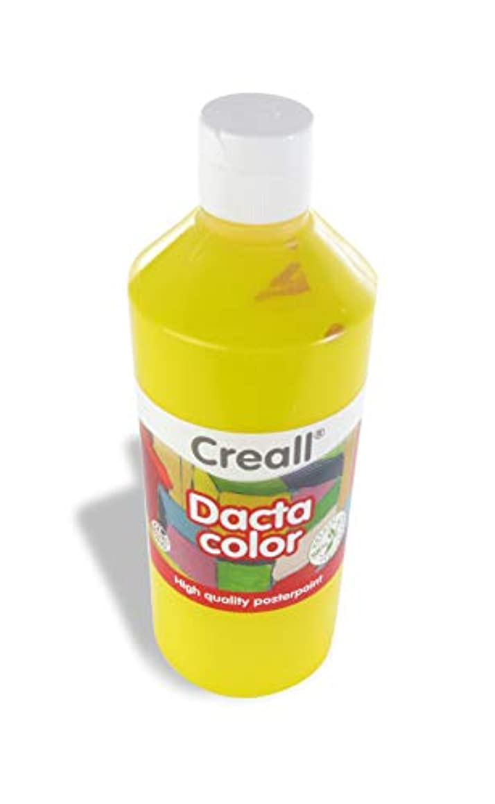 American Educational Products A-02772 Creall Dacta-Color - Tempera Paint, Primary Yellow, 500 mL, 7.87