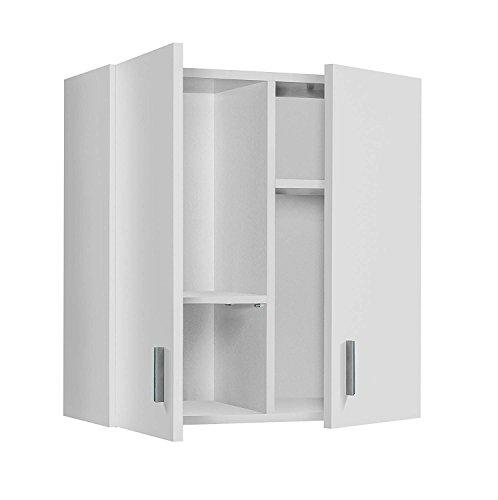 HABITMOBEL Armario Multiusos para Colgar, Color Blanco, Medidas: 60 x 59 x 26,5 cm Plus
