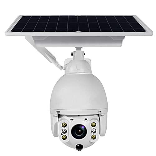 ZJ 8W 4G SIM Caméra D'énergie Solaire Caméra PTZ IP Caméra De Sécurité Extérieure 1080P Caméra De Sécurité Domestique Intelligente Surveillance De La Batterie(Color:4G 32G RAM)