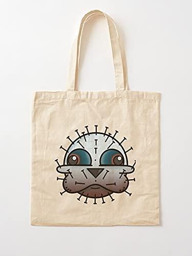 Générique Horror Pinhead Monster Parody Funny Movies Brot Hellraiser | Einkaufstaschen aus Segeltuch mit Griffen, Einkaufstaschen aus robuster Baumwolle