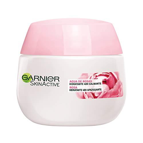 Garnier Skin Active - Crema Hidratante y Calmante Botánico 48H, con Agua de Rosas para Piel Sensible - 50 ml