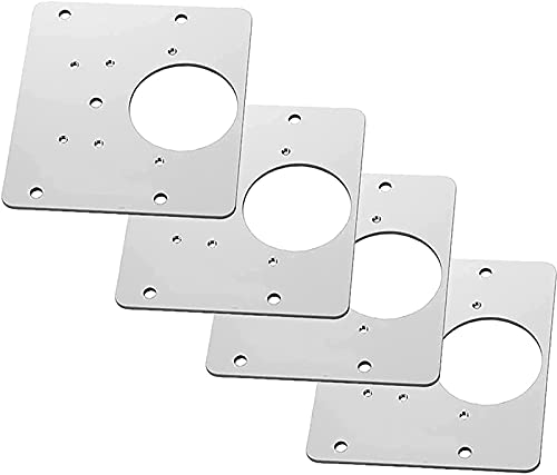 wgkgh ConcealedHinge Repair Plate Easy Mount,for Wood, Furniture, Shelves, Cabinet Plates Heavy Duty Straight Metal Brace?4pcs?