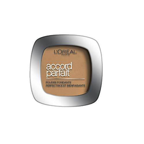 L'Oréal Paris - Poudre Fondante Accord Parfait - Peaux Normales à Mixtes - Teinte : Foncé (9.N) - 9 g