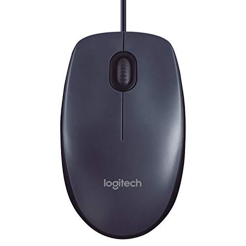 Logitech M100, Corded mouse, Black, 910-005003