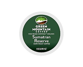 Green Mountain Coffee Fair Trade Organic Sumatran Reserve, K-Cup Portion Pack for Keurig Brewers 192-Count