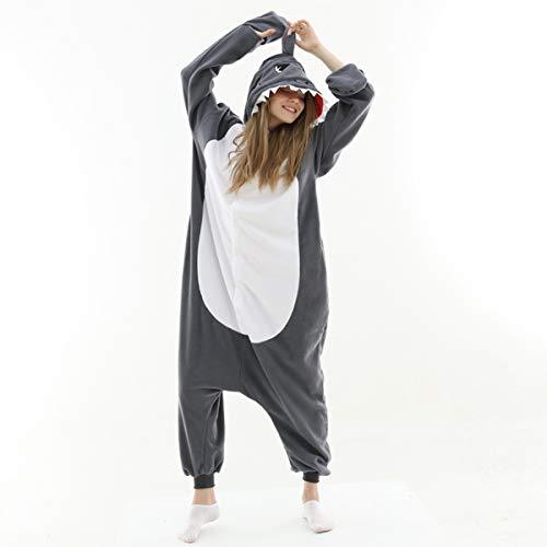 RULTA Erwachsene Hai Tier Onesies Cosplay Unisex Weihnachten Schlafanzug Halloween...
