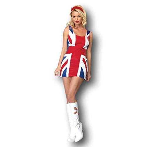 Rubber Johnnies TM Vestido Bandera Reino Unido Adulto Ginger Spice Disfraz Fantasía