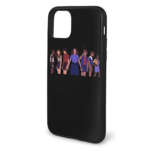 TreeLeaff Black Phone Case Stranger Things Compatibile con 11 12 PRO Max 6/6s 7/8 Plus X/XS XR XSMAX SE 2020 Samsung S21 Ultra Huawei Shockproof Protection Cover