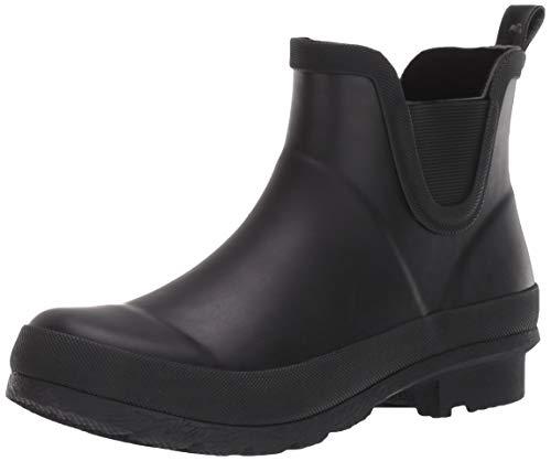 Amazon Essentials Women's Short Rain Boot, Black, 9 M US