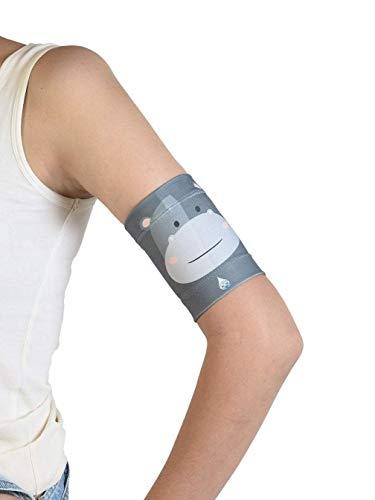 Dia-Band para niños - Brazalete protector para el sensor de glucosa Freestyle Libre, Medtronic, Dexcom o Omnipod - Banda para diabéticos reutilizable (J.M (19-22 cm))