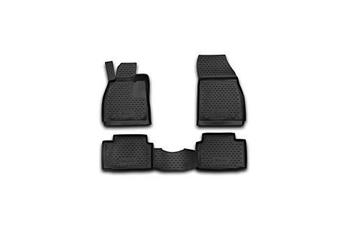 Element EXP.NLC.37.22.210k Passgenaue Premium Antirutsch Gummi Fußmatten-OPEL Insignia A G09-Jahr: 08-17, schwarz, Passform