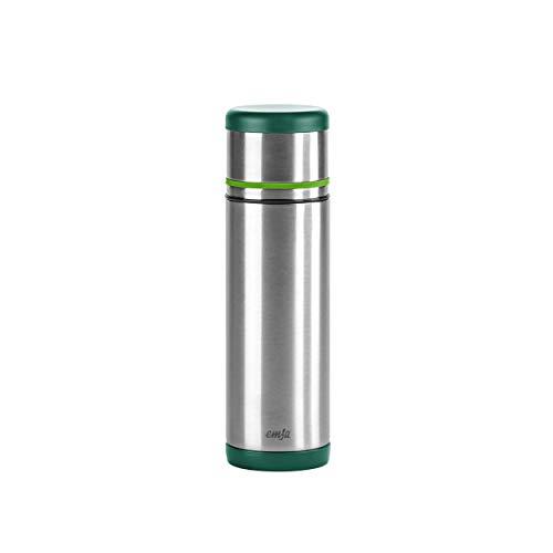 Emsa 512959 Isolierflasche, Mobil genießen, 500 ml, Safe Loc Pro Verschluss, Grün-Hellgrün, Mobility
