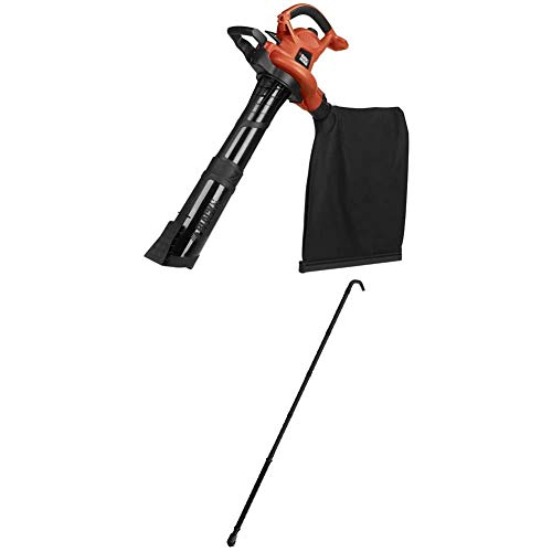 BLACK+DECKER 3-in-1 Electric Leaf Blower with Quick Connect Gutter Cleaner Attachment (BV6600 & BZOBL50)