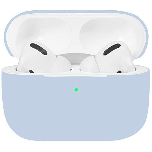 Watruer AirPods Pro Funda, Cubierta Protectora Completa a Prueba de Golpes Compatible con Apple AirPods 3 - Azul Claro