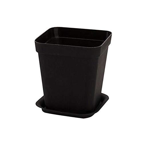 KYT-mia 8 * 7cm Strumenti Mini Piazza Fioriere plastica Vasi Black White Flower Pot Multi-Carne Bacino Home Office Arredamento da Giardino (Colore : Black)