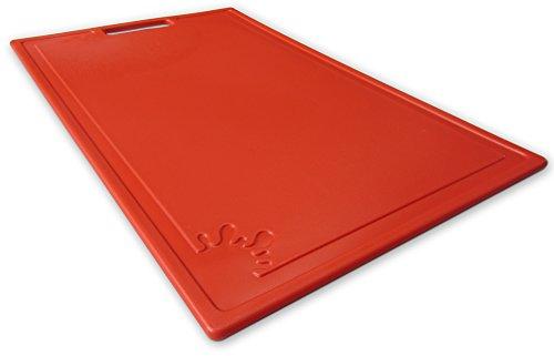 Tagliere in plastica con piedini antiscivolo Taglieri antibacterico Tagliere grandi ( Rosso, Grande )