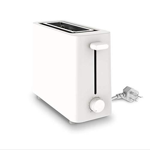 LVJUNQ Máquina para Hacer Pan pequeña Multifuncional con Ajuste de 6 extraíble y pies Antideslizantes, se Puede desconectar automáticamente la energía, Uso en la Cocina, Color Blanco