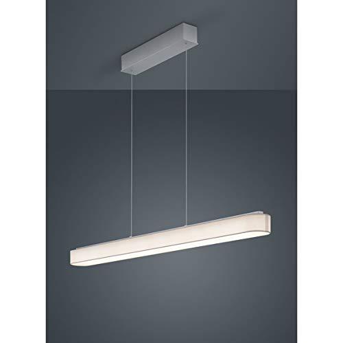 Bora LED Pendelleuchte 120cm, weiß Schirm Chintz Gestell mattnickel eloxiert 2800K 4320lm
