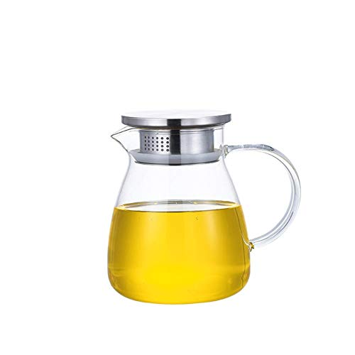 Sommer's Laden Wasserkaraffe, Glaswasserkrug mit Deckel und Ausguss - hitzebeständiger Krug für heißes/kaltes Wasser, eingedickter Krug mit Griff für den Heimgebrauch
