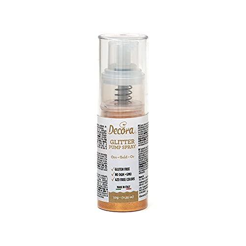 Decora 9261210 Spray Colorante Pump Glitterato Oro 10 G