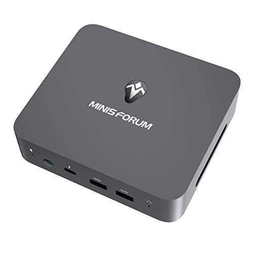 MINIS FORUM Mini PC, Intel Core i3-1005G1 Prozessor 16 GB DDR4/ 256GB SSD Mini Desktop Computer mit Windows 10 pro, HDMI- DP und USB C Anschluss, Dual Band WiFi, BT 5.1, USB 3.1 * 2, USB 2.0 * 2