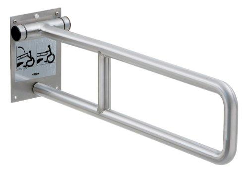 Bobrick 4998 en acier inoxydable 304 pivotante Barre d'appui, finition satinée, largeur : 73,7 cm X 8–3/10,2 cm Hauteur