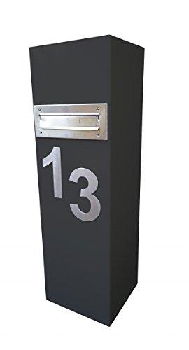 Standbriefkasten mit aufgebrachter Hausnummer
