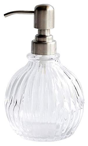 HLZY Dispensadores de jabón de encimera de baño, Jabón de la Botella de Cristal de la Botella Creativa del hogar Champú Gel de Ducha loción dispensador de jabón líquido de Cocina y baño
