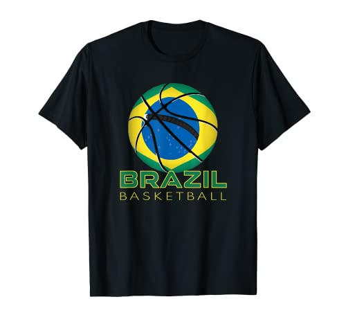 América Brasil Fan Deportes Bandera Nacional Brasil Baloncesto Camiseta