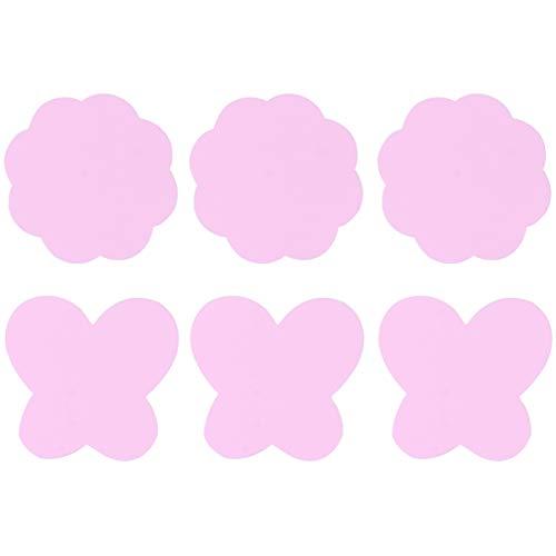 Lurrose 3 Sacs de Dessin Palette de Couleurs Silicone Nail Art Palette Maquillage Nail Peinture Plateau pour Pigment Mélange Mélange (Rose)