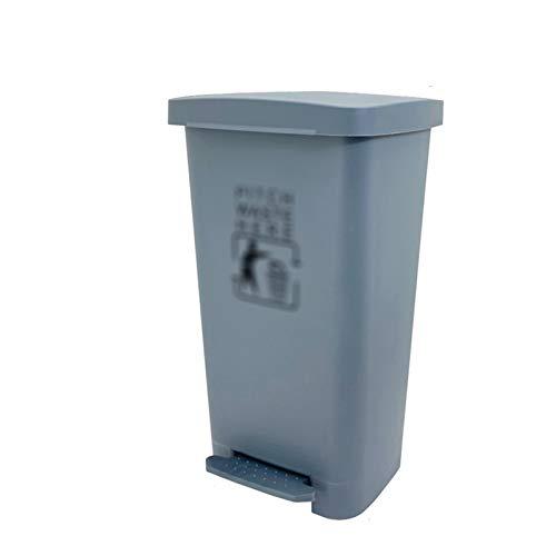 Outdoor trash can CSQ- Poubelle Intérieure, Poubelle en Plastique De Type à Pédale 40/50 / 60L Poubelle De Cuisine Poubelle pour Restaurants, Bureau, Poubelle Extérieure, Gris(Size:50L,Color:Gris)