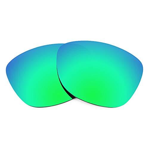 Revant Lentes de Repuesto Compatibles con Gafas de Sol Arnette Witch Doctor AN4177, No Polarizados, Verde Esmeralda MirrorShield