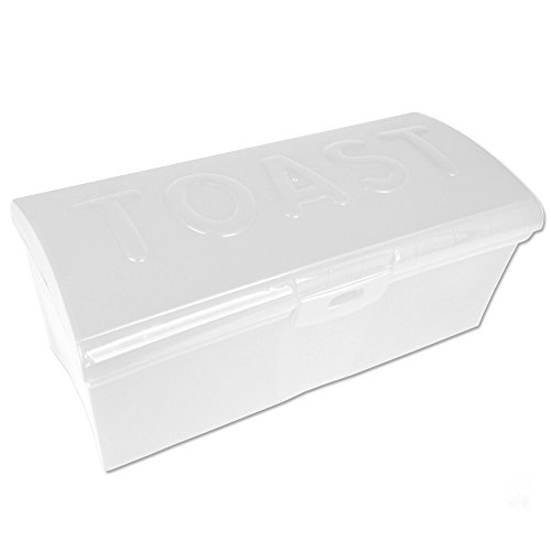 TW24 Toastbrotbox mit Farbauswahl - Brotkasten - Brotbox - Brotkiste (Weiß)
