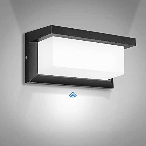 Lampada da Parete Esterno LED 30W Applique da Esterno con Sensore Applique da Parete Moderno Bianco Freddo Impermeabile IP65 per Giardino, Garage, Officina, Corridoio, Scale, Giardino