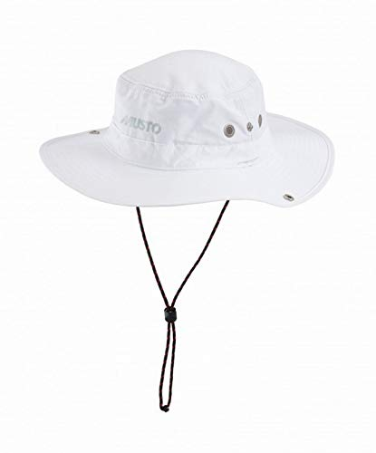 Musto Fast Dry Brimmed Hat in WHITE - UV Sun Protection and SPF Properties - Unisex