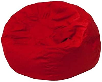 Amazon.com: Giant Bean Bag Chairs for Adults-Red Cotton ...
