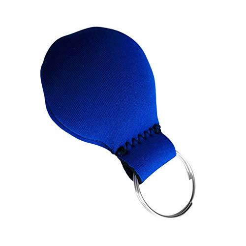 YING-pinghu Kayak Zubehör Bootfahren Wassersport Neopren-Schwimm Keychain + Edelstahl Zubehör Navigation Kajak Angeln Keyring Schwimmdock (Color : Blue as described)