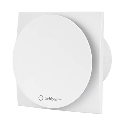 Turbionaire Mio 100 TW con temporizador, aspirador de 100 milímetros, color blanco, extracción de ventilación estándar, para baño, cocina, válvula de no retorno aspiración perimetral, protección IPX4