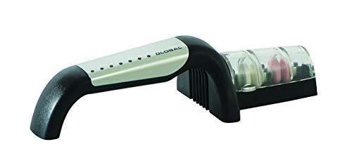 Global G-91/BW Minosharp - Afilador de cuchillos (cerámica, 2 niveles, 2,1, acero inoxidable)