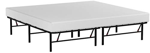 """AmazonBasics Foldable, 14"""" Metal Platform Bed Frame with Tool-Free Assembly, No Box Spring Needed - King"""